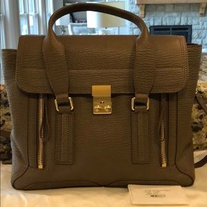 New Philip Lim 3.1 Pashli Medium Satchel Purse Tan